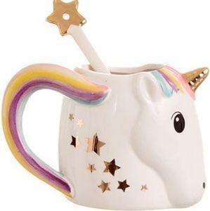 NEW Enchanting Rainbow Unicorn Mug with Spoon